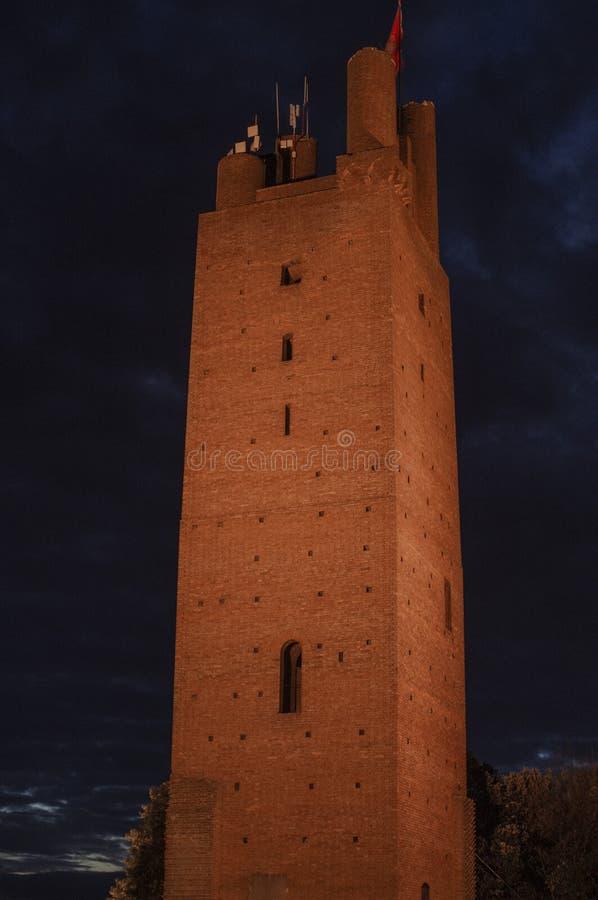 Rocca av Federico II i San Miniato arkivfoto