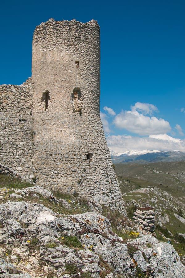 Rocca Calascio royalty-vrije stock afbeelding