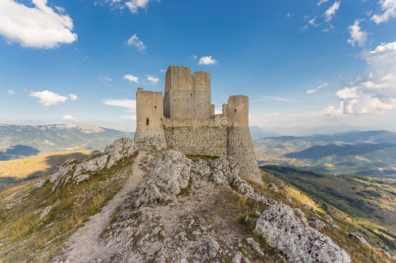 Rocca Calascio, Abruzzo, Italy. The highest fortress in the Apennines mountains stock photos