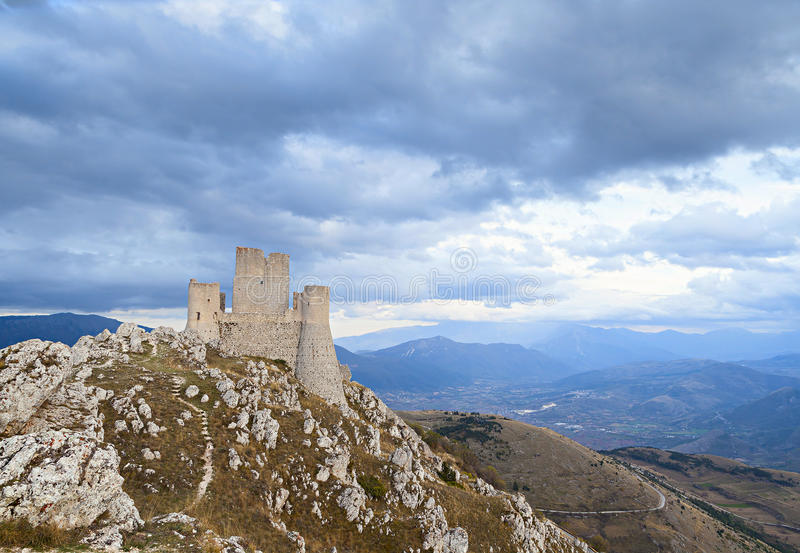 Rocca calascio castle royalty free stock photography