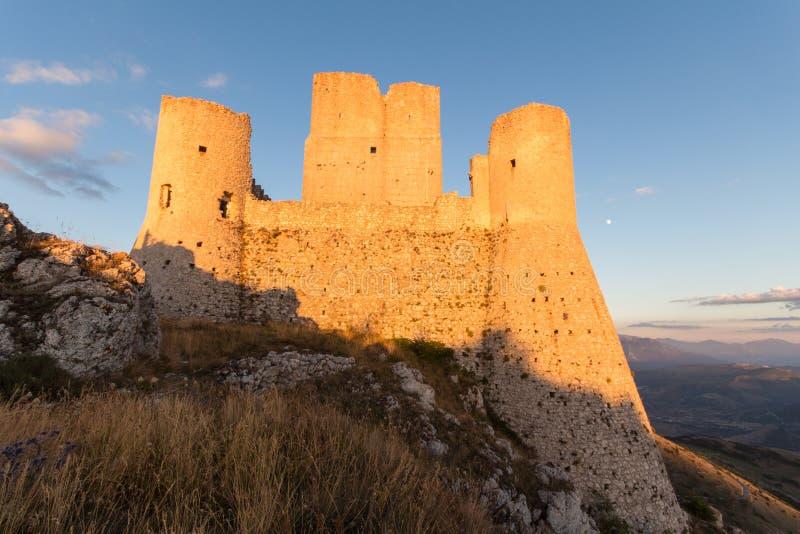 Rocca Calascio, Lady Hawk Fortress, in Abruzzo, L'Aquila, Italy royalty free stock images