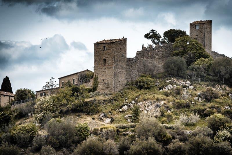 Rocca Castello di Monticchiello fotografering för bildbyråer