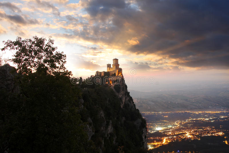 Rocca della Guaita royalty free stock image