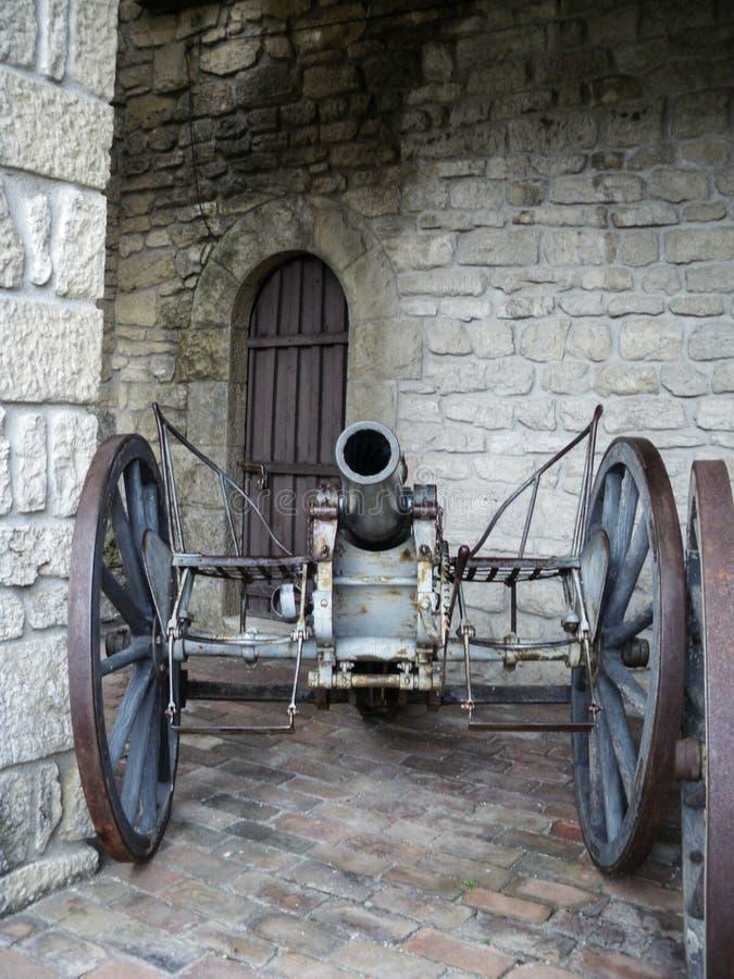 Rocca della Guaita, den mest forntida fästningen av San Marino Republic royaltyfri fotografi