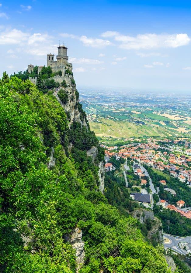 Rocca della Guaita. The most ancient fortress of San Marino, Italy royalty free stock photography