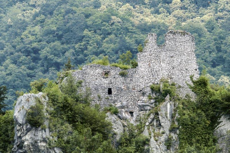 Rocca di Nozza,韦斯托内布雷西亚意大利, 2018年6月 免版税库存图片