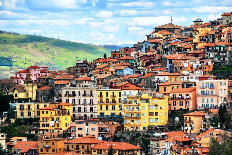 Rocca Di Tata miasteczko na Alban wzgórzach, Rzym, Lazio, Włochy fotografia stock