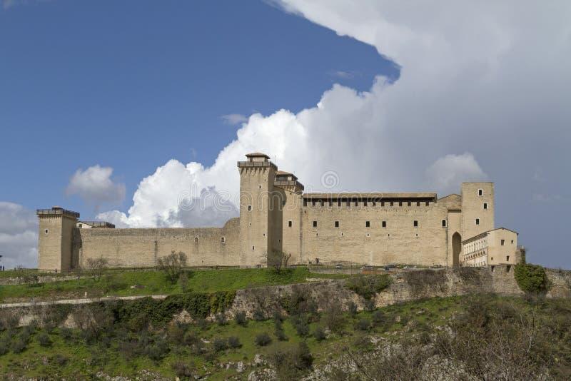 Rocca em Spoleto imagens de stock
