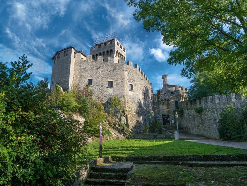 Rocca Guaita i Republiken San Marino italy royaltyfri foto