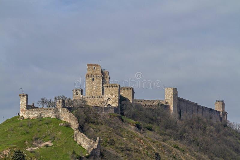 Rocca Maggiore in Assisi stock photography