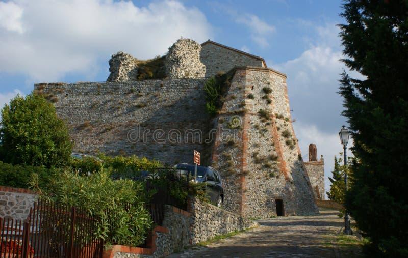 Rocca Malatestiana, Malatesta Castle, Castel del Sasso, Castle of the Rock. Verucchio, Rimini, Emilia Romagna, Italy. stock photo