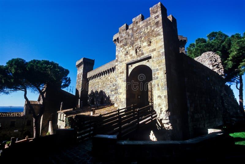 Bolsena, Lazio - Italy. Rocca Monaldeschi castle, medieval town with castle on Lake Bolsena, region Latium, central Italy stock images