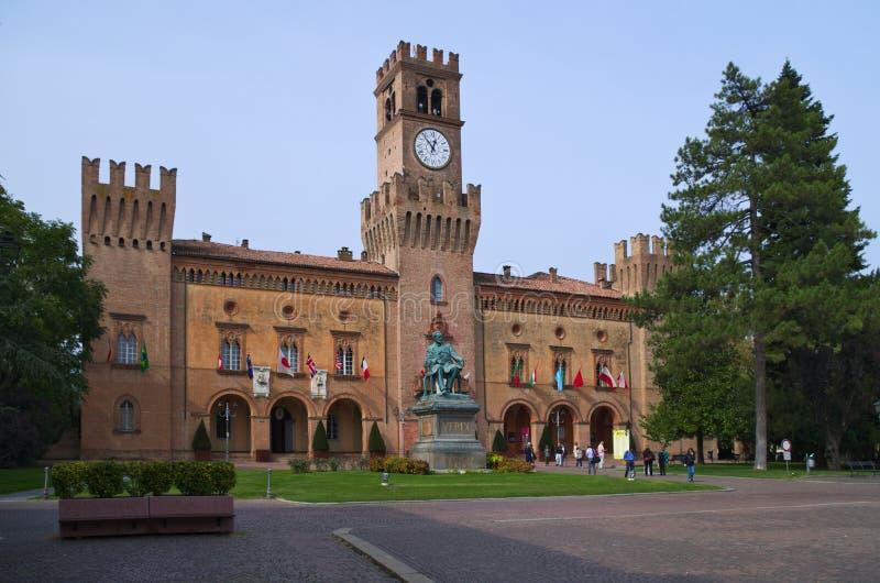 Rocca Pallavicino forteca w miasteczku Busseto, Parma fotografia stock