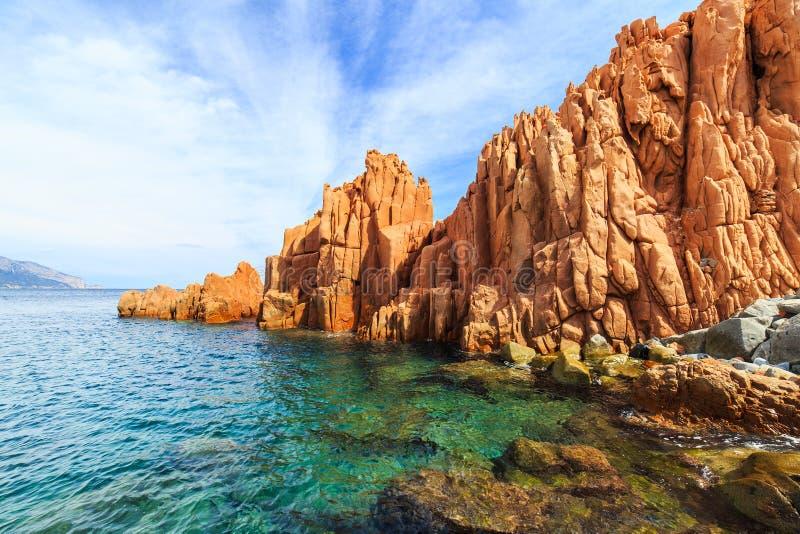 Rocca Rossa in Arbatax, Sardinia stock image