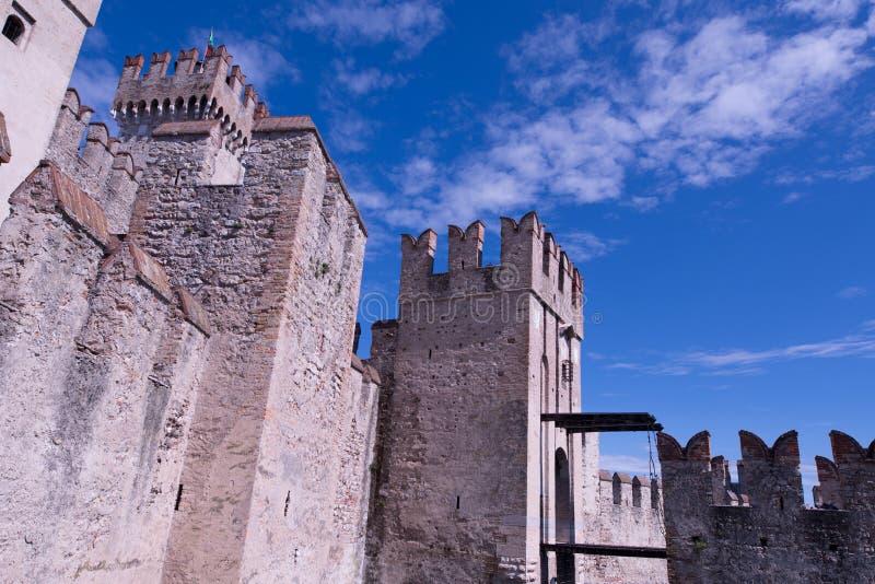 Rocca Scaligera城堡 图库摄影
