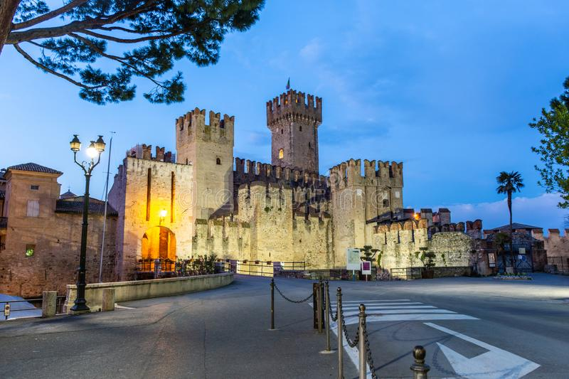 Rocca Scaligera Castle in Sirmione. Garda Lake royalty free stock images