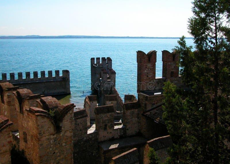 Rocca Scaligera, Castle in Sirmione, Garda Lake, Italy. Garda Lake, Sirmione, north Italy royalty free stock photos