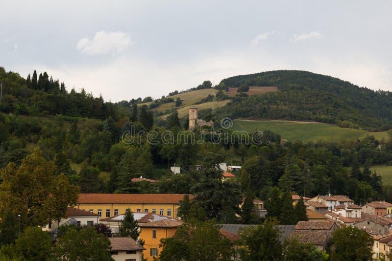 Roccasan Casciano dorp royalty-vrije stock foto