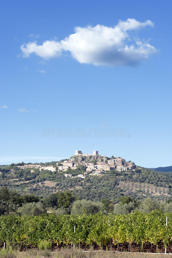 Roccastrada Tuscany. Image of the town Roccastrada in Tuscany, Italy royalty free stock images