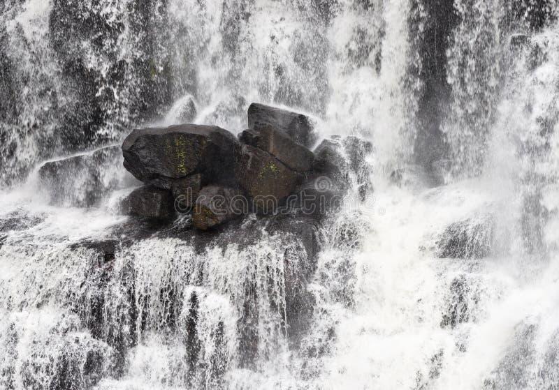 Rocce in cascata fotografia stock