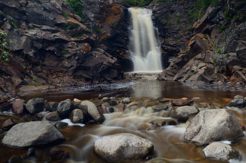 Rocce del fiume e della cascata fotografia stock libera da diritti