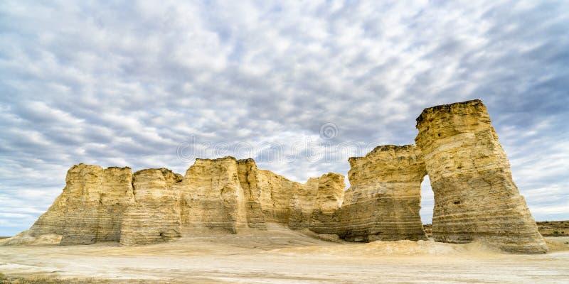 Rocce del monumento in Kansas occidentale fotografia stock libera da diritti