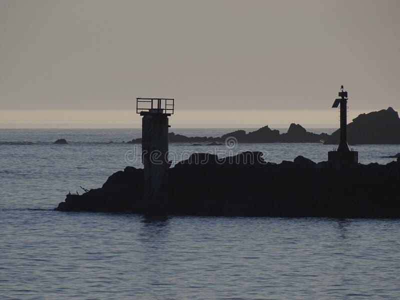 Rocce del porto in porto, O fotografia stock