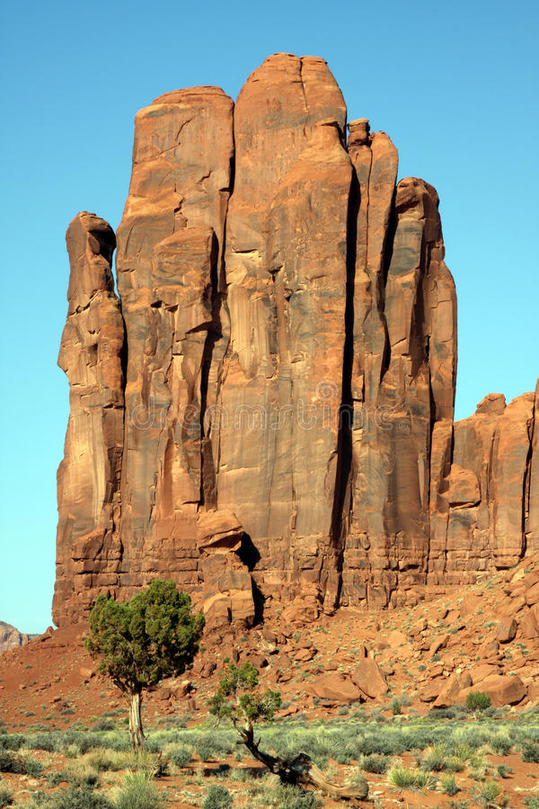 Rocce della valle del monumento fotografie stock libere da diritti