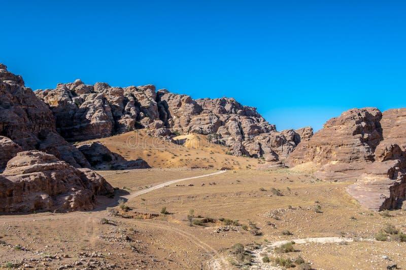 Rocce di Beidha fotografia stock