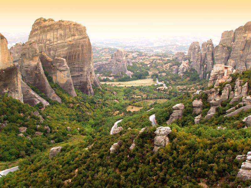 Rocce di Meteora - Grecia immagini stock libere da diritti