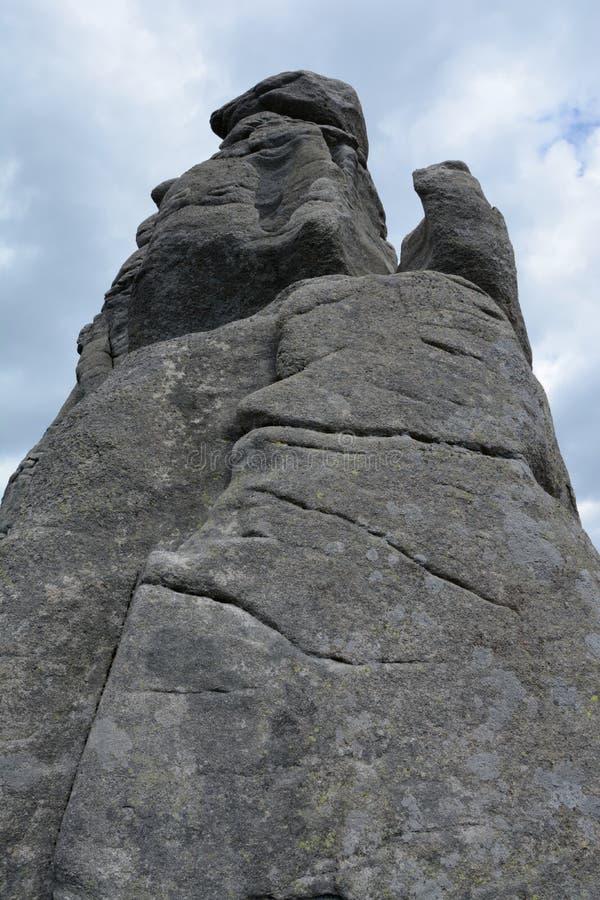 Rocce di Pielgrzymy in montagne di Karkonosze fotografia stock libera da diritti