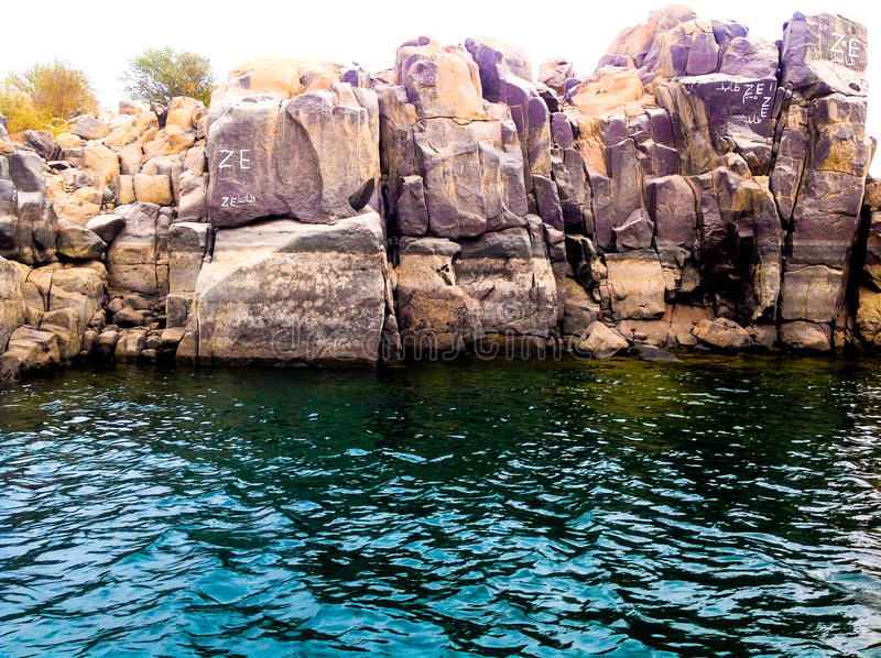 Rocce ed acqua fotografia stock