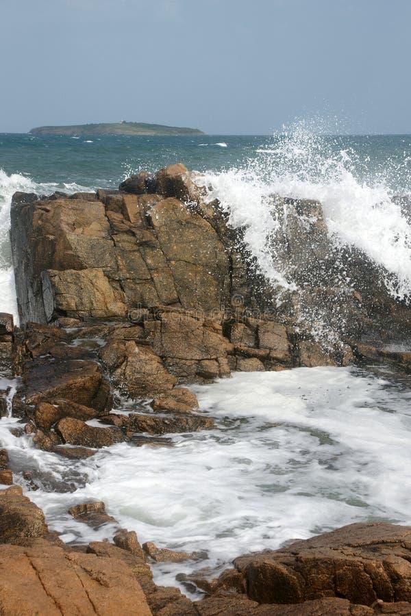 Rocce ed isola 13 fotografie stock libere da diritti