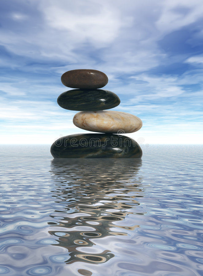 Rocce equilibrate fotografie stock