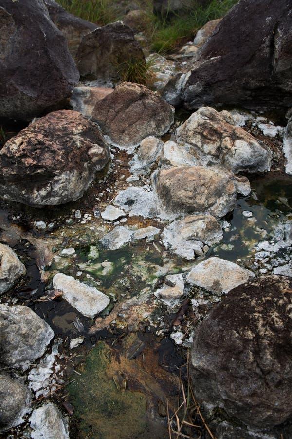 Rocce intorno alle sorgenti di acqua calda immagine stock libera da diritti
