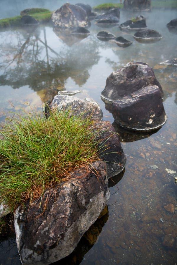 Rocce intorno alle sorgenti di acqua calda fotografia stock libera da diritti