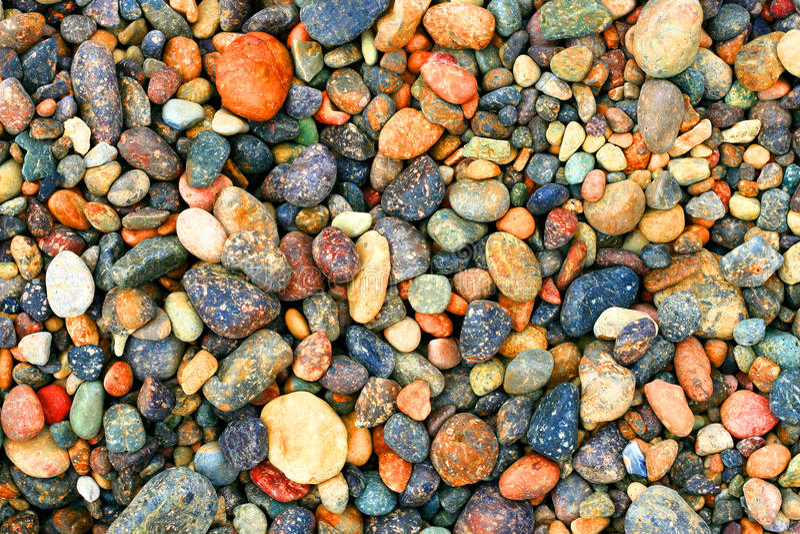 Rocce Multi-colored fotografia stock
