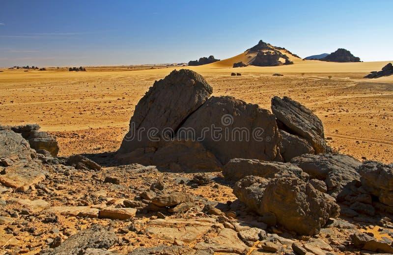 Rocce nel paesaggio del deserto fotografia stock