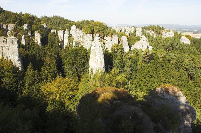 Rocce nel paradiso della Boemia fotografia stock