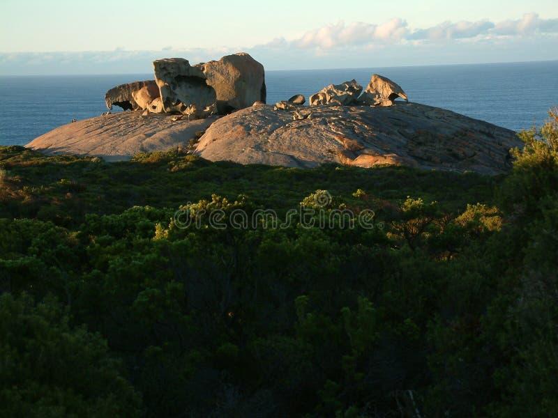 Rocce notevoli, isola del canguro fotografia stock libera da diritti