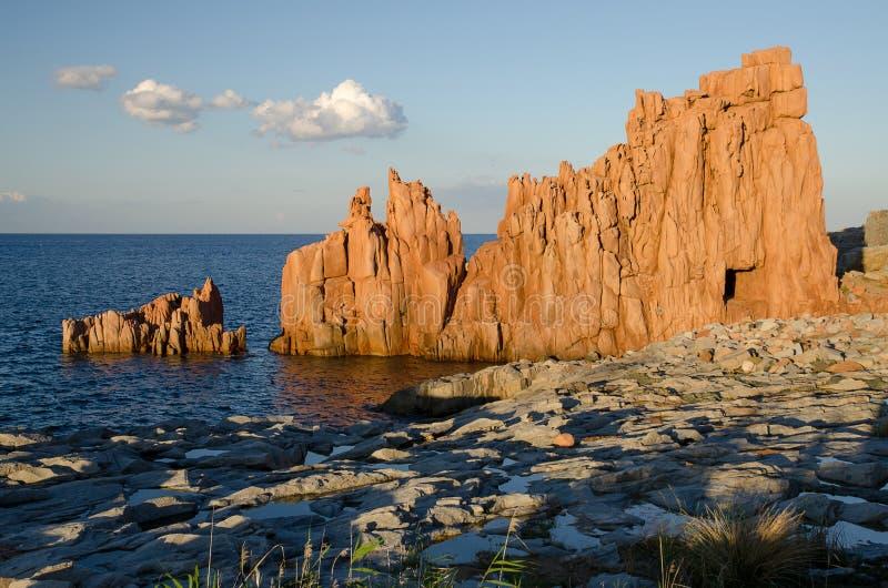 Rocce Rosse, Arbatax, Sardinia zdjęcia royalty free