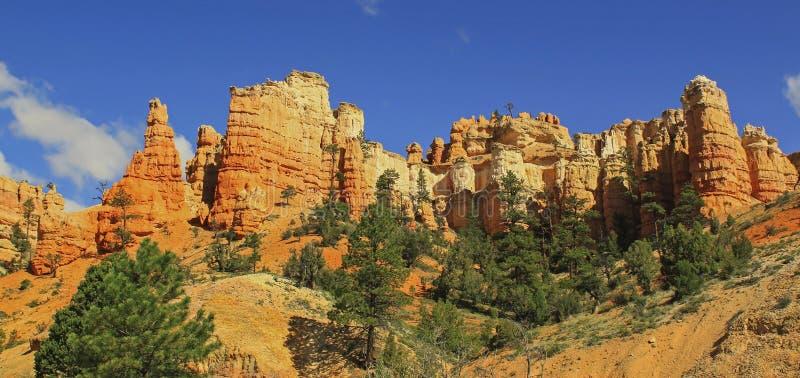 Rocce rosse in Zion National Park, Utah, U.S.A. fotografia stock libera da diritti