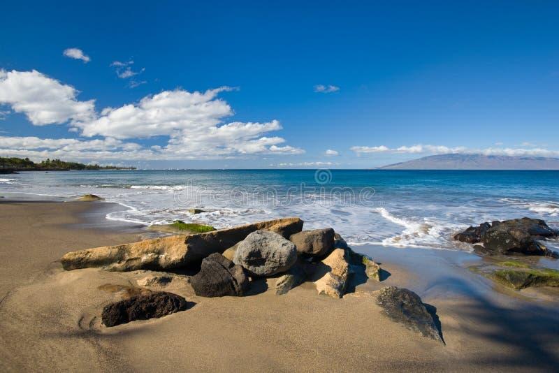 Rocce sulla spiaggia fotografia stock