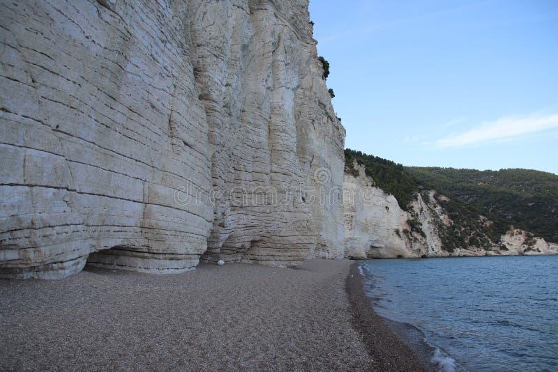 Rocce sulla spiaggia in ampulia Italia immagine stock libera da diritti