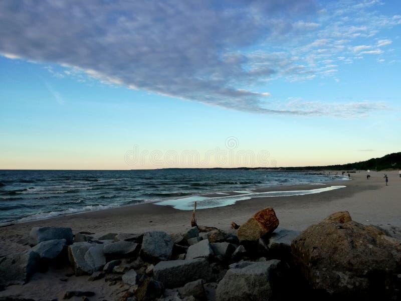 Rocce sulla spiaggia, Mar Baltico immagini stock libere da diritti