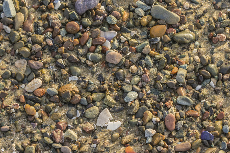 Rocce variopinte della spiaggia immagini stock libere da diritti