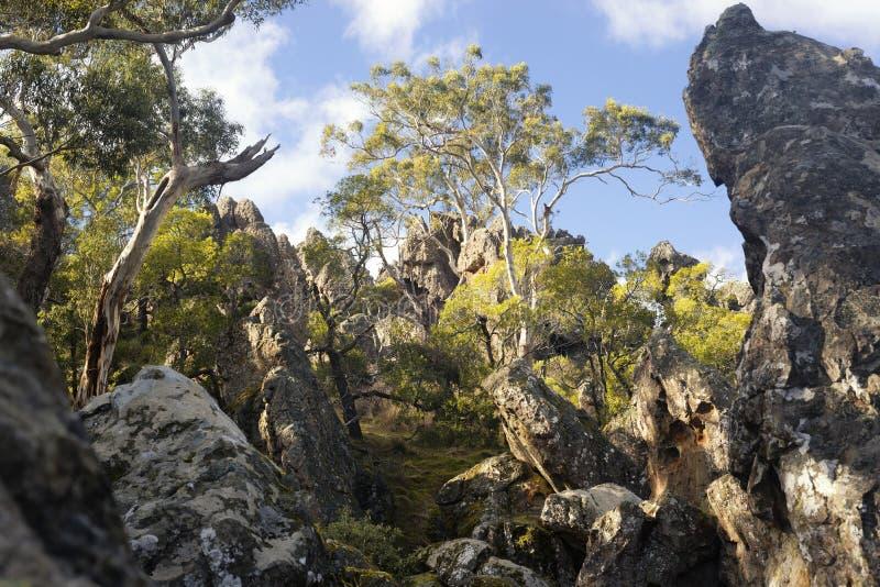 Roccia d'attaccatura, Woodend, Australia immagini stock libere da diritti