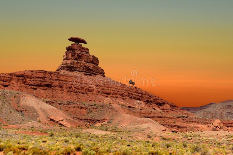 Roccia del cappello messicano in cappello messicano, Utah U.S.A. fotografie stock libere da diritti