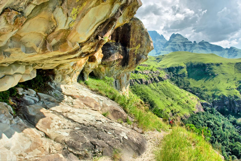 roccia del Ombra-e-riparo fotografie stock