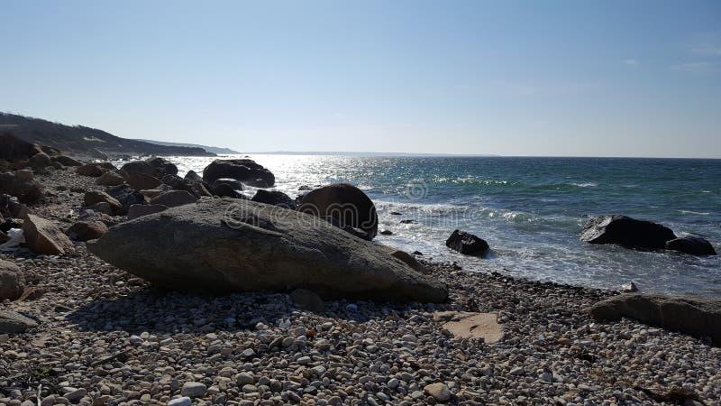 Roccia della spiaggia immagini stock